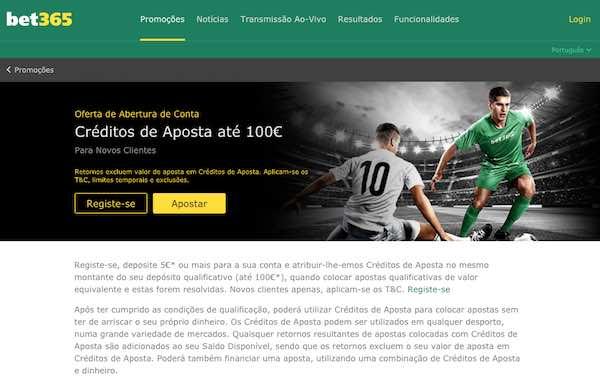 Bet365 - Créditos de Aposta até 100€