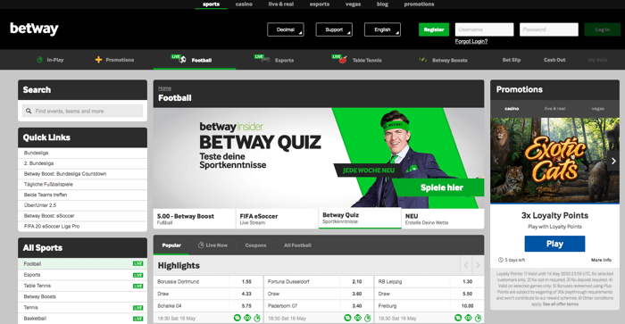 Betway - Football